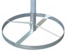 Base circolare mobile zincata