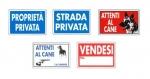 Cartelli linea privata 20x30