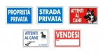 Cartelli linea privata 20x30