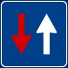 Cartello diritto di precedenza nei sensi unici alternati