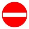Cartello stradale di senso vietato