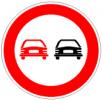Cartello stradale divieto di sorpasso