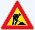 Cartello stradale lavori in corso