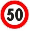 Cartello stradale limite massimo di velocità