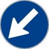 Cartello stradale passaggio obbligatorio
