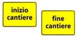 Cartello stradale per lavori edili e stradali
