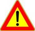 Cartello stradale pericolo generico