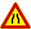 Cartello stradale strettoia asimmetrica