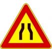Cartello stradale strettoia simmetrica