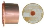Griglia di areazione in rame tonda con boccaglio in plastica