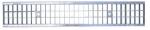 Griglia zincata per canaletta L 100