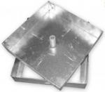 Sigillo zincato quadro leggero con bullone